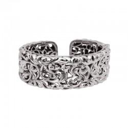 Sterling Silver  Wide Ivy Cuff Bracelet