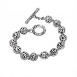 Sterling Silver Black Sapphire Pave Bracelet