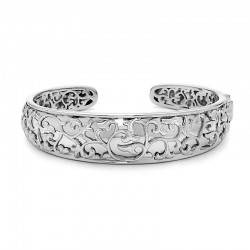 Sterling Silver  Ivy Lace Cuff Bracelet
