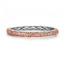 Sterling Silver,14Kw,18Kp Ivy Lace Bangle Bracelet
