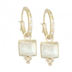 Ariana Moonstone 18KY Earring Charms (Charms only)