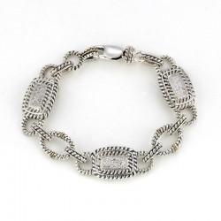 Samuel B. Sterling/14KY Pave Diamond Link Bracelet