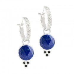 Chloe Lapis Silver Earring Charms (Charms only)