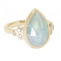Mia Small Aquamarine 18KY Ring