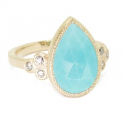 Mia Small Turquoise 18KY Ring