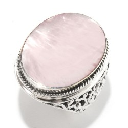 Samuel B. Sterling Silver Oval Pink Mop Ring