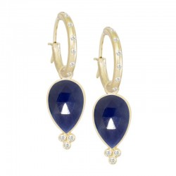Mia Small Blue Sapphire 18KY Earring Charms (Charms only)