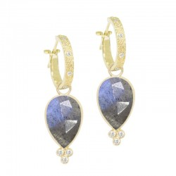 Mia Small Labradorite 18KY Earring Charms (Charms only)