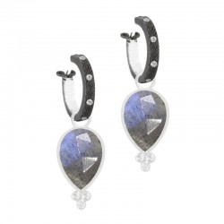 Mia Labradorite Silver Earring Charms