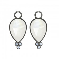 Mia Small Moonstone Silver Earring Charms (Charms only)