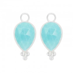 Mia Turquoise Silver Earring Charms (Charms only)