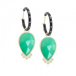 Mia Medium Chrysoprase 18KY Earring Charms (Charms only)