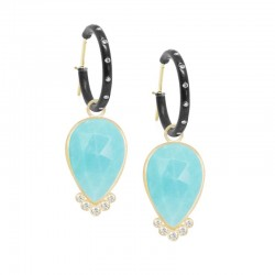 Mia Medium Turquoise 18KY Earring Charms (Charms only)