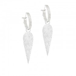 Angel Wings 30mm Silver Earring Charms (Charms only)