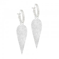 Angel Wings 36mm Silver Earring Charms (Charms only)