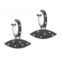 Alien Invasion Diamond Silver Earring Charms (Charms only)