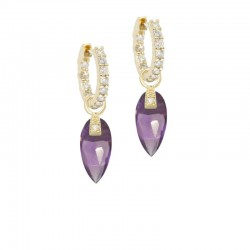 Angel Wings 15mm Amethyst Earring Charms (Charms only)