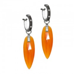 Angel Wings 30mm Carnelian Silver Earring Charms (Charms only)
