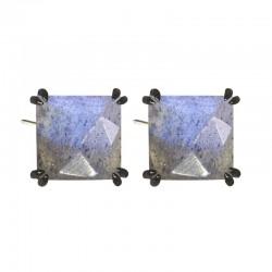 Spirit Labradorite Silver Stud Earrings