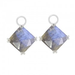 Spirit Labradorite Silver Earring Charms (Charms only)