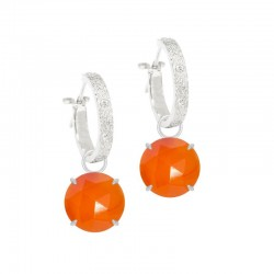 Petal Carnelian Silver Earring Charms (Charms only)