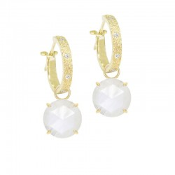 Petal Moonstone 18KY Earring Charms (Charms only)