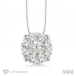LoveBright diamond pendant  .35ct tw