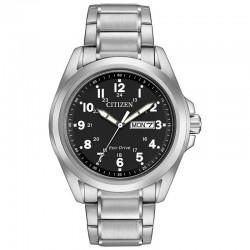 Classic watch styling designed for the man of today. Sporty with clean lines and oversized Arabic numbers
