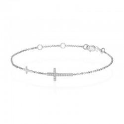 Luvente Diamond Cross Bracelet