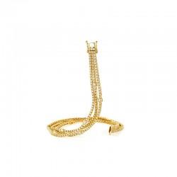 14KY Three Strand Diamond Bracelet