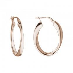 SS/PGP Oval Twisted Hoop Earrings
