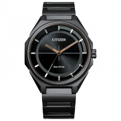 Men's Citizen Black ST Drive Watch w/Black Stick Dial