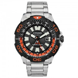 Men's ST Citizen Eco-Drive Promaster GMT Diver w/Black-Orange Dial, 1HR Bezel, 200M/20Bar