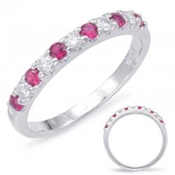 Ruby and diamond band
