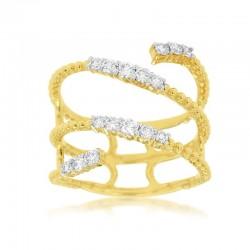 14KY Diamond Swirl Ring