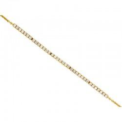 14KY Diamond Bar Bracelet