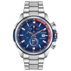 Citizen Marvel Spider-Man Chronograph w/Blue-Red Web Dial, WR100M/10Bar