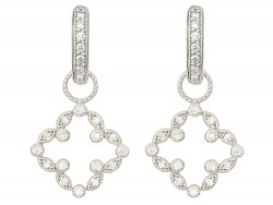JudeFrances 18K White Gold Earrings