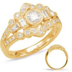 14K Yellow Gold Gold Diamond Band