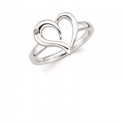 SS Diva Diamonds® Open Heart Ring