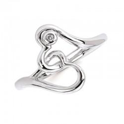 SS Diva Diamonds® Double Hearts Ring