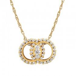 14KW Diamond Marriage Symbol® Pendant