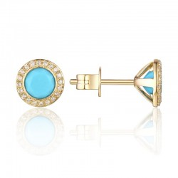 Luvente Turquoise and Diamond Earrings