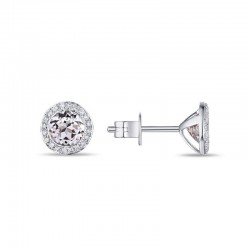 Luvente White Topaz Earrings