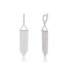 Luvente Diamond Triangle Tassel Earrings