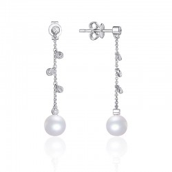 Luvente Pearl and Diamond Earrings