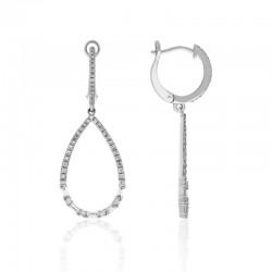 Luvente Diamond Hoop Drop Earrings