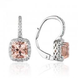 Luvente Morganite & Diamond Earrings