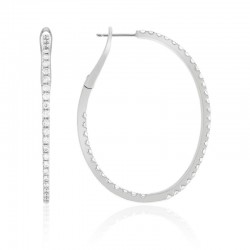 Luvente Diamond Medium Hoop Earrings