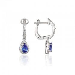 Luvente Tanzanite and Diamond Earrings